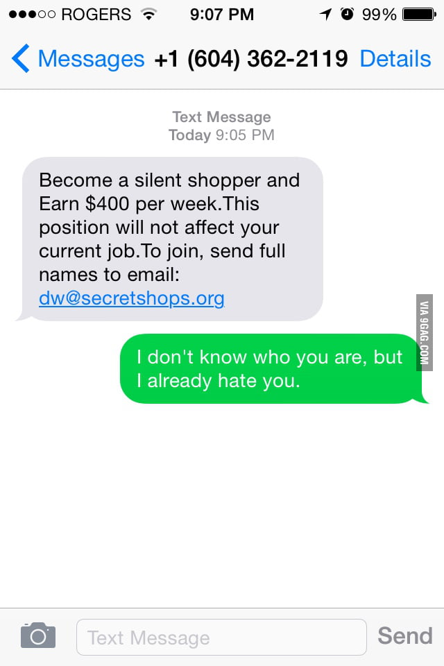 I hate people who sends me texts like this  - 9GAG