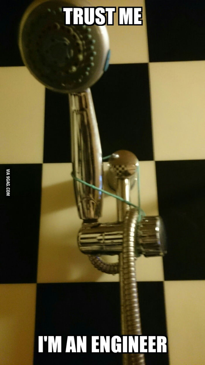 The shower head was too heavy for the grip... so I fixed it! - 9GAG