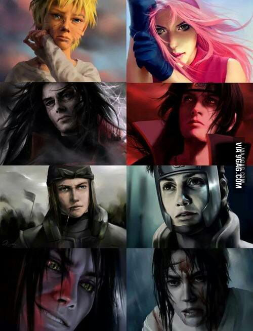 Naruto Characters In Real Life 9gag