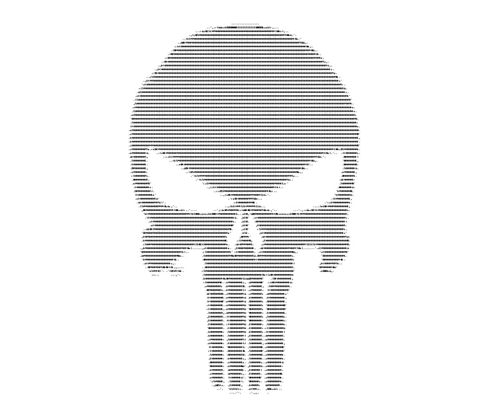 Punisher ascii art - 9GAG