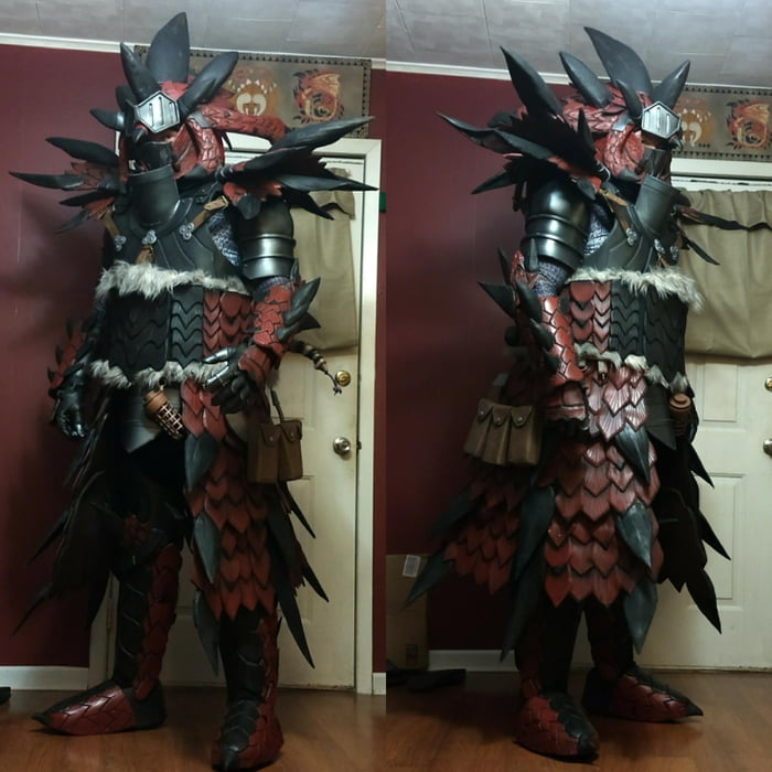 My Rathalos Armor Cosplay From Monster Hunter World 9gag