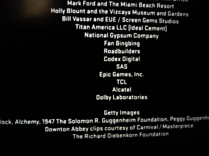 In the credits of Iron Man 3, Epic Games is listed as