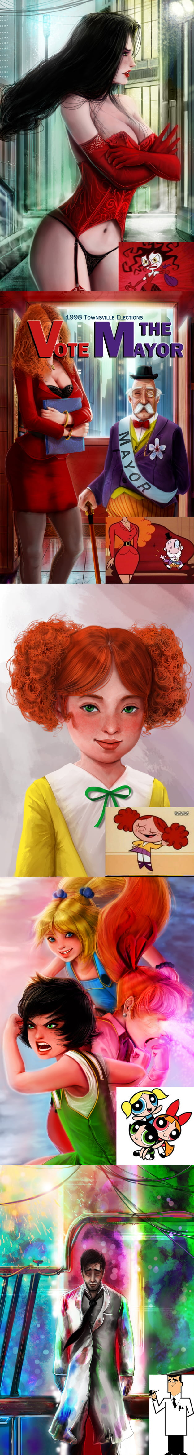powerpuff girls realistic character artworks 9gag