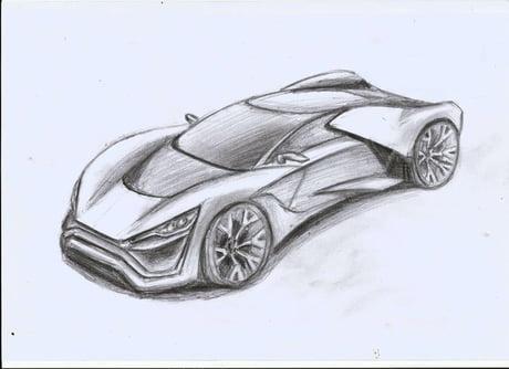 My car design sketch