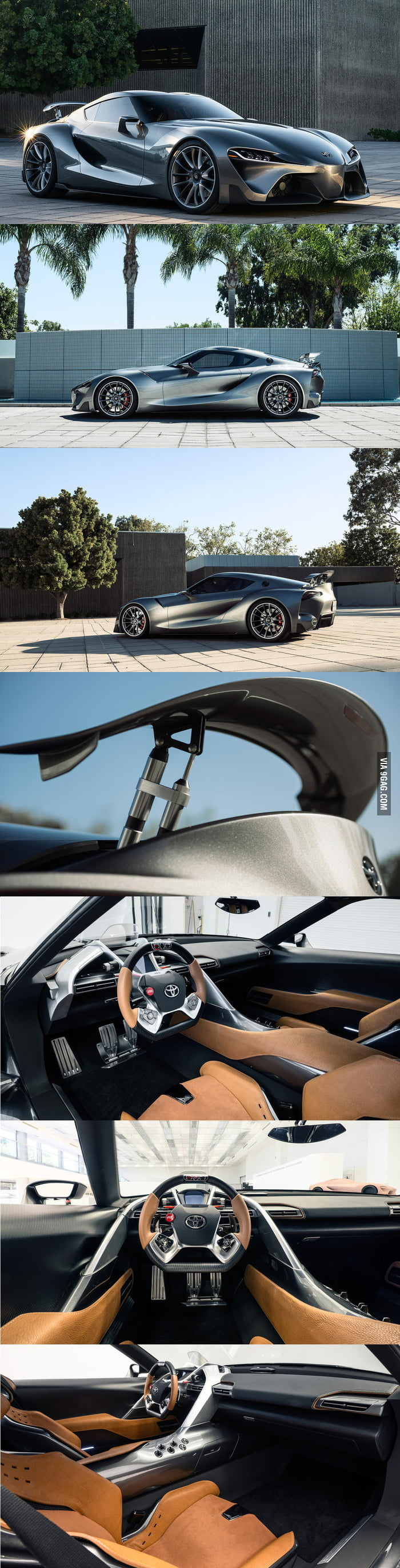 The Toyota FT-1 from different angles and also interior