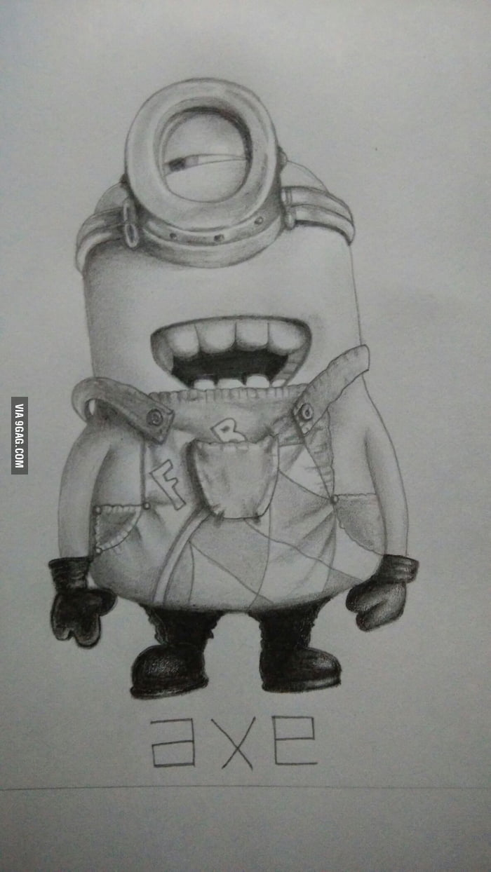Minion pencil sketch