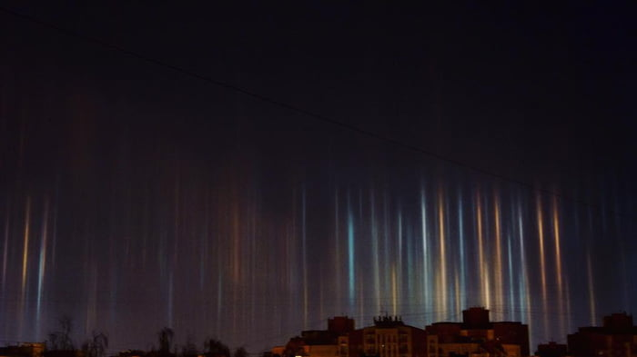 Light pillars in st petersburg russia this is one of the halo light pillars in st petersburg russia this is one of the halo kinds publicscrutiny Gallery