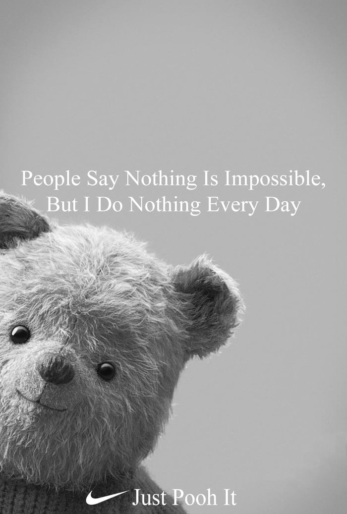 Image result for Nike meme just pooh it