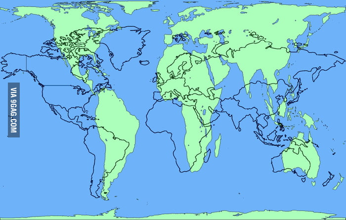 World map without distortion real continent sizes 9gag world map without distortion real continent sizes gumiabroncs Choice Image