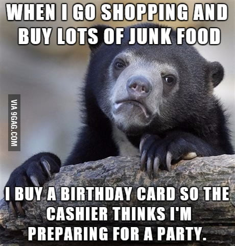 my friends get birthday cards that i buy months in advance  gag, Birthday card