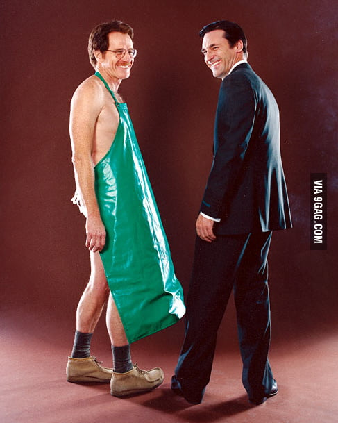 Bryan Cranston and Jon Hamm at a photoshoot for AMC, prior ...