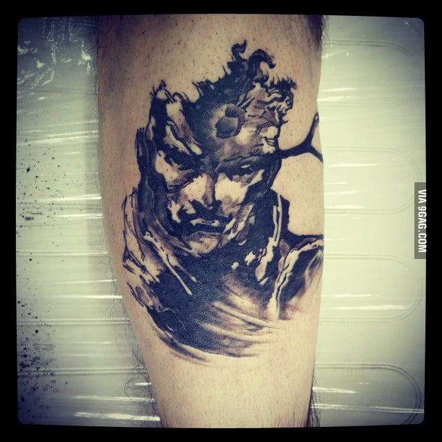 Solid Snake Tattoo From Metal Gear Solid 9gag
