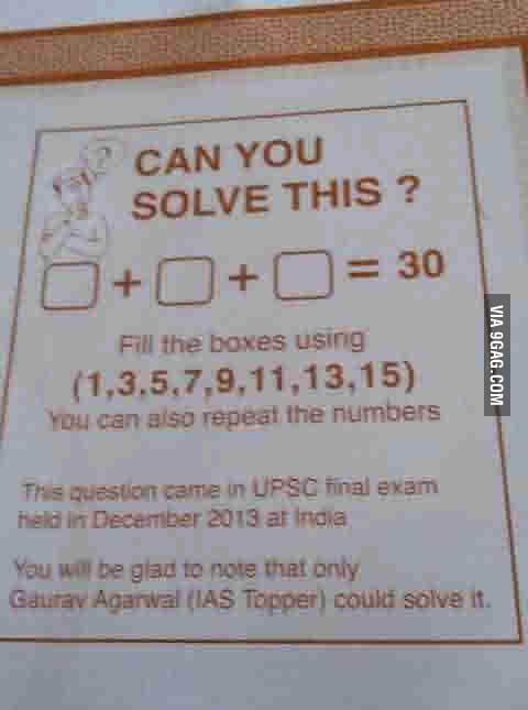 Please solve this