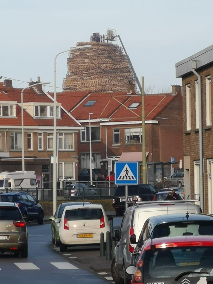 bonfire preperation in the netherlands  what could possibly go wrong