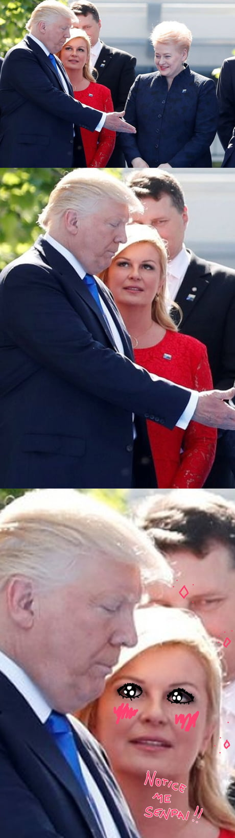 Life goals: have someone that looks at you like Croatian president looks at Trump
