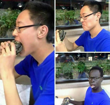 So I tried this black burger.. now my dick is large but my father is missing