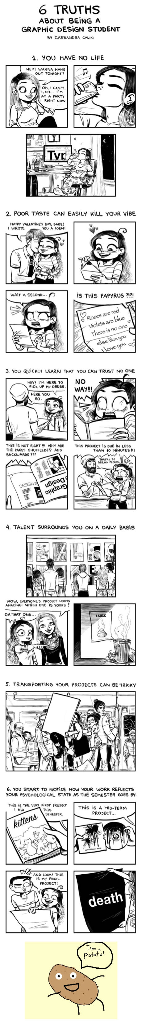 6 truths about being a graphic design student 9gag for Architecture students 9gag