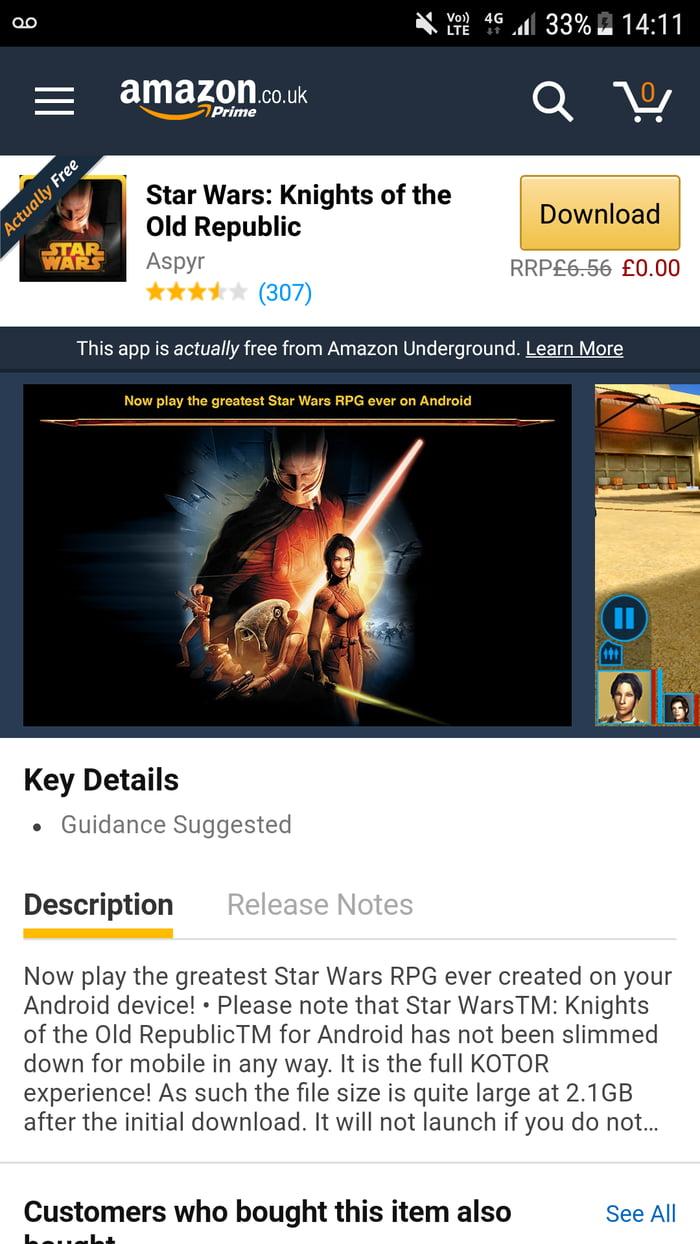kotor free of charge on amazon underground 9gag