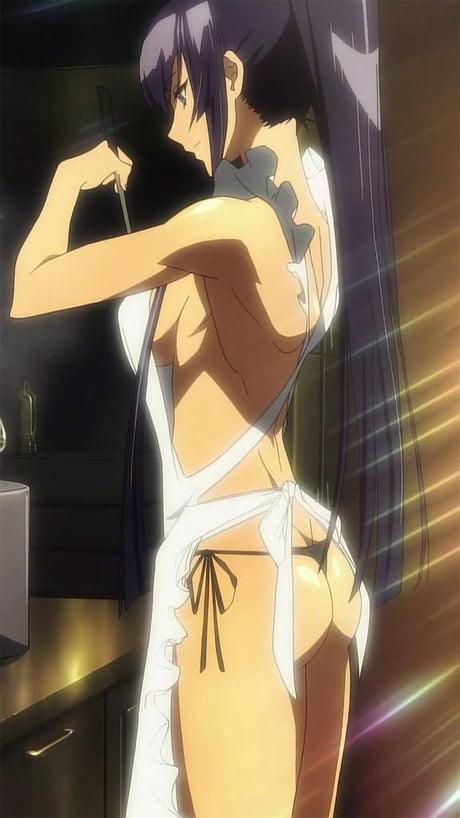 Saeko Busujima, aprons are rly underrated