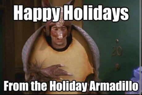 Christmas Armadillo Friends.Only F R I E N D S Fans Will Het This Happy Christmas From