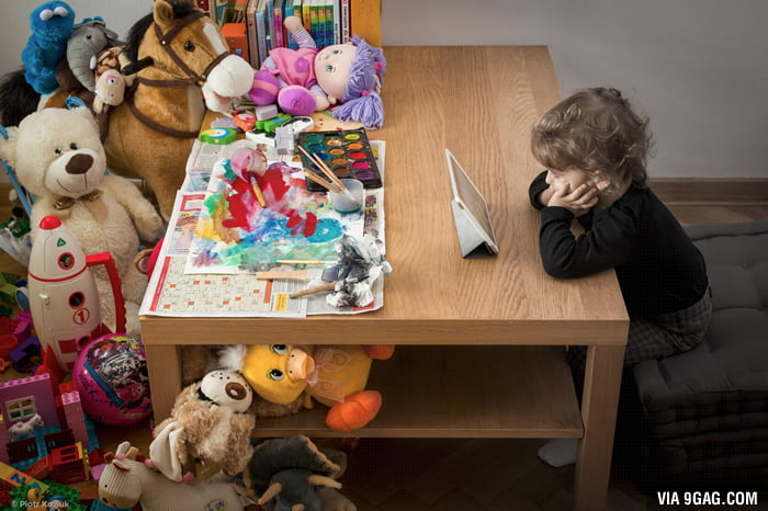 This photo sums up the root of the problems of our kids today