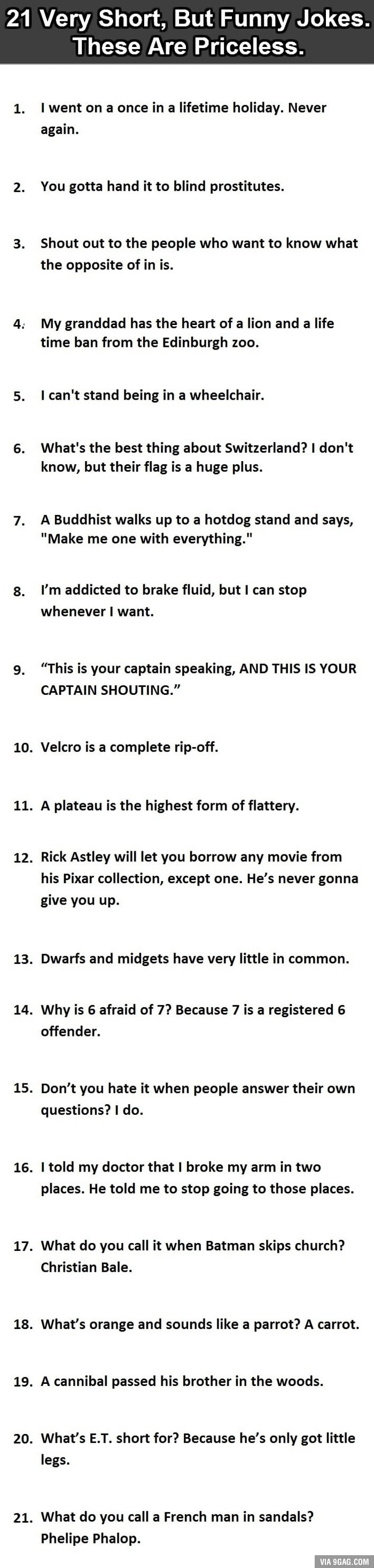 Funny Quotes Quotes And Jokes On Pinterest: 21 Very Short, But Funny Jokes. #12 Is Perfect.