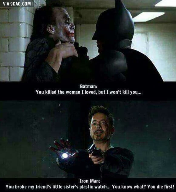 Batman vs Iron Man - 9GAG