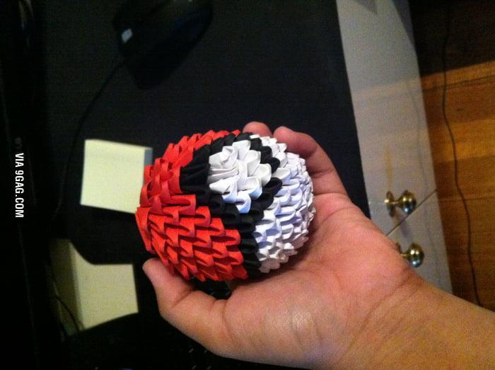 Origami Pokeball 9gag