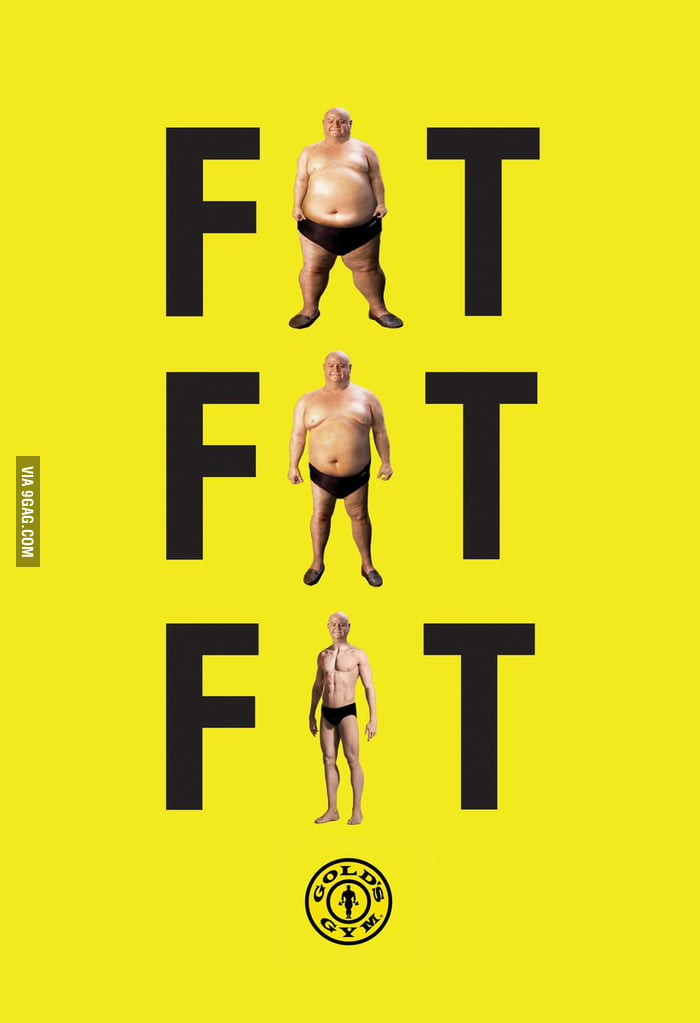Such a great print ad - Gold's Gym - 9GAG