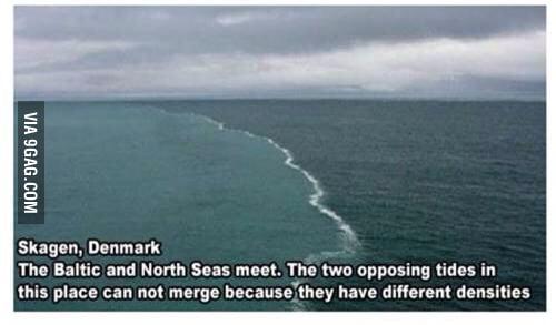what oceans meet but dont mix