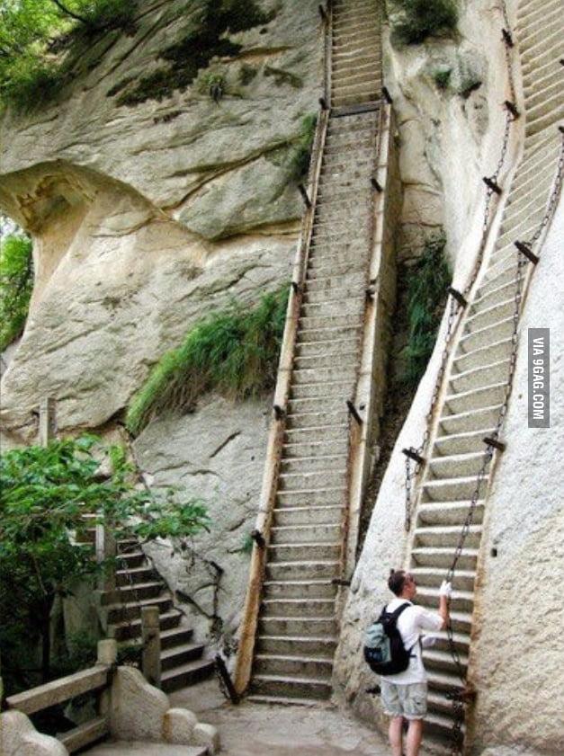 Dem Steep Stairs. Dem Steep, Scary Stairs.