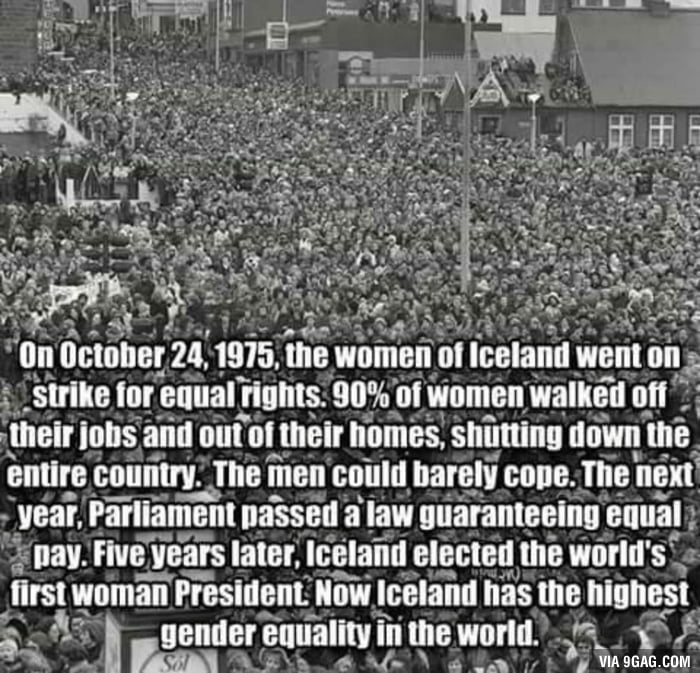 Equality in Iceland.