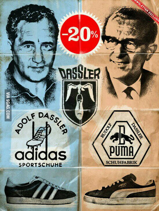 Did you know that the founders of adidas and puma were brothers  - 9GAG 3972024f83d5