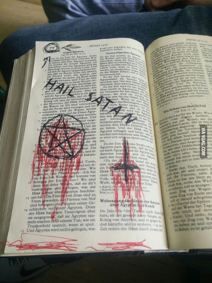 Bible from my school at page 666 - 9GAG