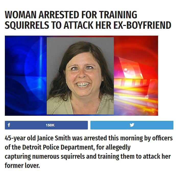 Trains to woman attack squirrels That's Nuts!