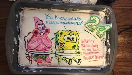 Awesome The Best 24Th Birthday Cake Ever 9Gag Funny Birthday Cards Online Kookostrdamsfinfo