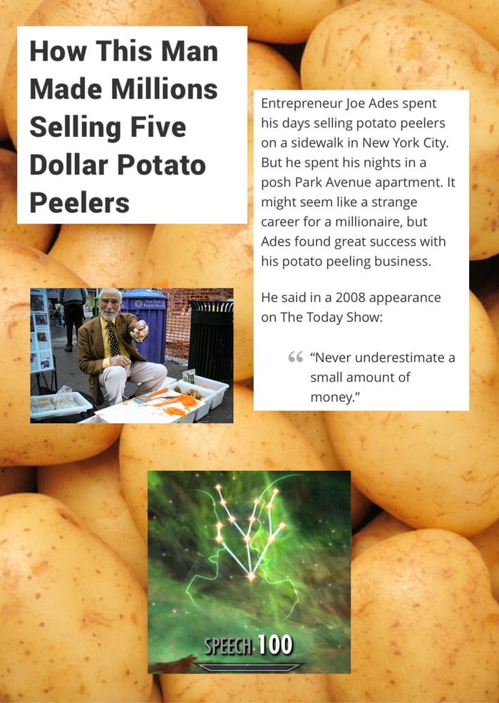 potato peeler millionaire