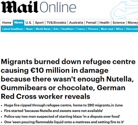 Racist red cross for not giving them enough nutella