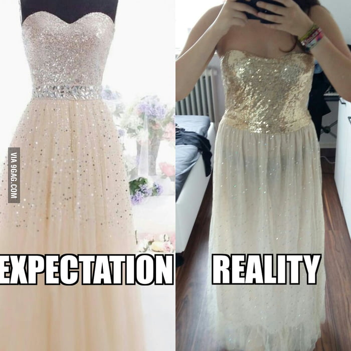 This is why you shouldn\'t order a prom dress from China... - 9GAG