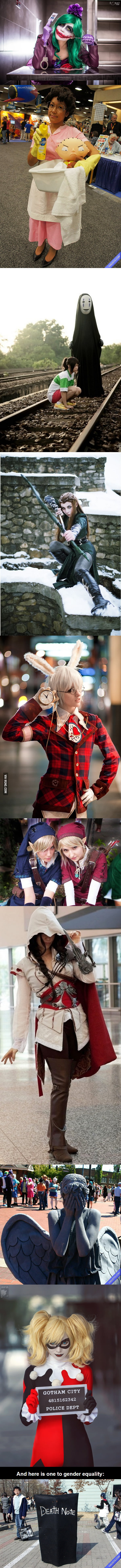 Female cosplay awesomeness (without cleavage as the focal point)