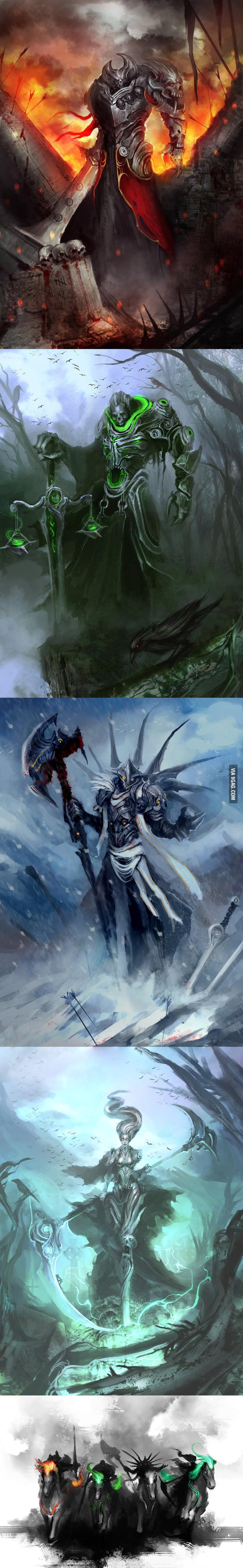 The Four Horsemen Of The Apocalypse (Badass Version) - 9GAG