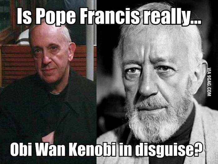 We All Know That Pope Ratzinger Was Darth Sidious But 9gag