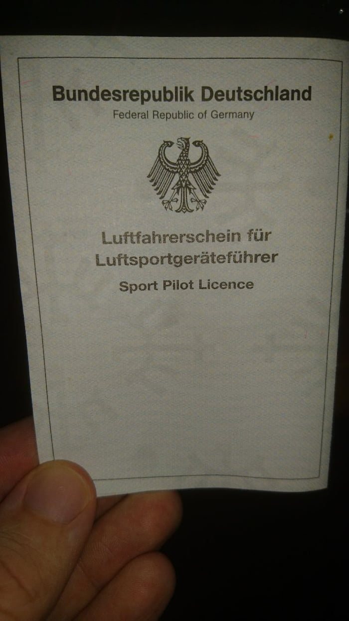 Pilot Licence Not Accurate Enough For Our Beloved German