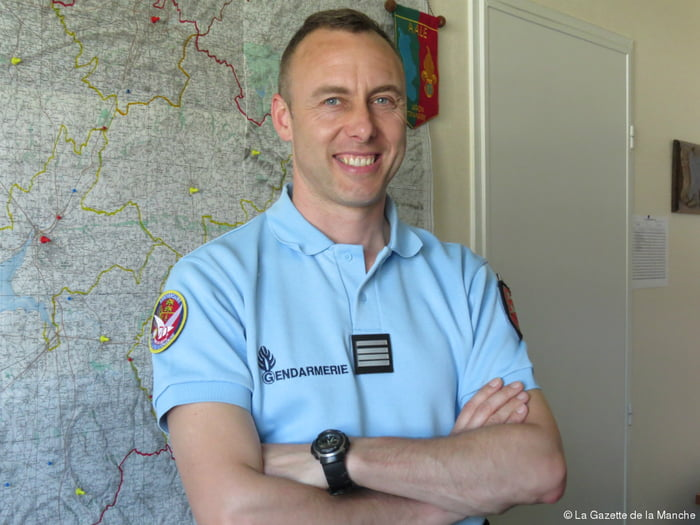 This is Arnaud Beltrame, this guy is a hero. He ask the terrorist to release a woman and take him as a hostage instead. While he was hostage he called GIGN (french swat) and they launched an assault because he was shot down. Terrorist is dead and Arnaud is fighting against death