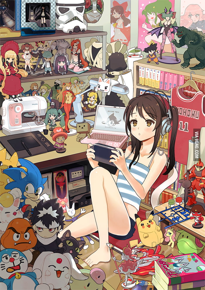 Every anime fan's dream room, I guess?