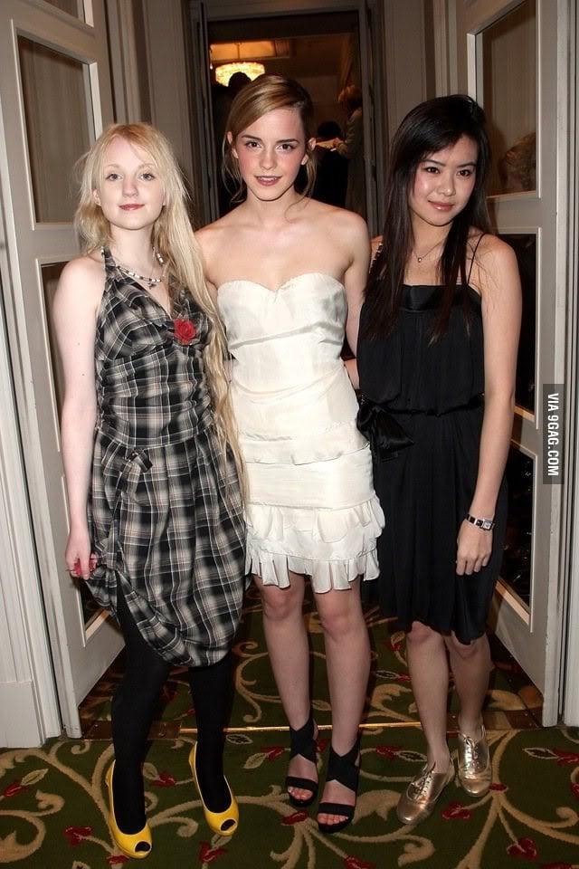 Amazon.com: Hermione Granger Luna Lovegood Cho Chang 1 ...  |Luna Lovegood And Cho Chang