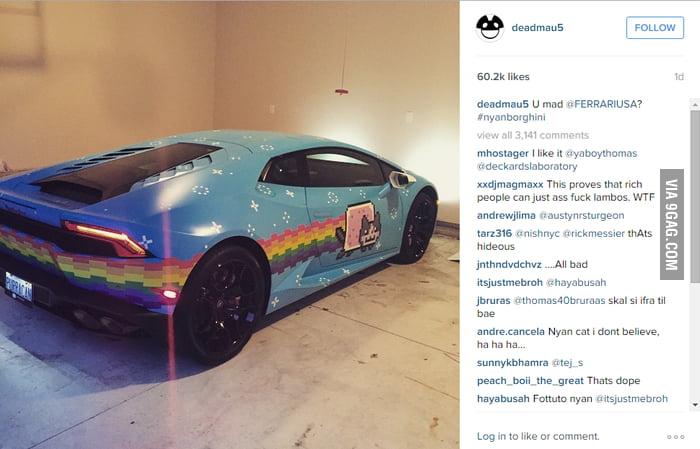 Remember Deadmau5 S Nyan Cat Ferrari Well 9gag