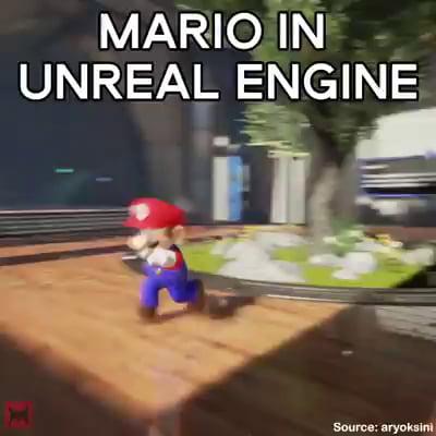 Mario in  Unreal Engine