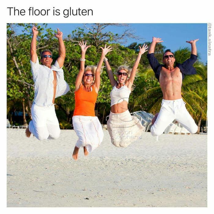 The floor is gluten