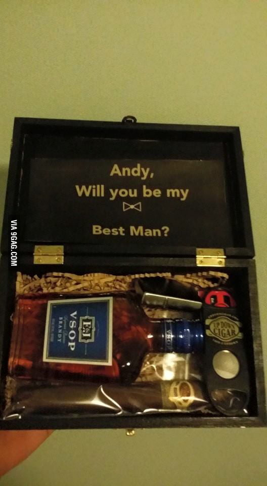 got this from my brother as a best man invitation a while back